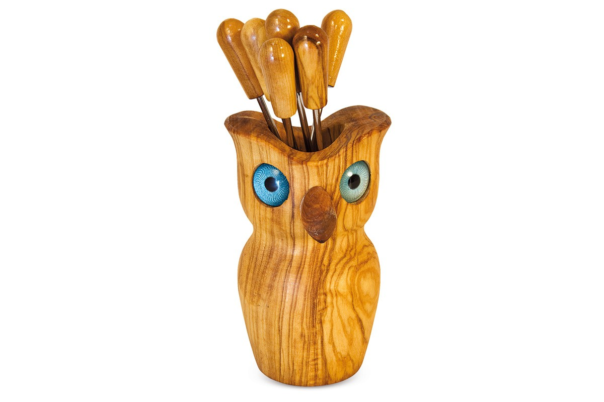 Owl fork holder