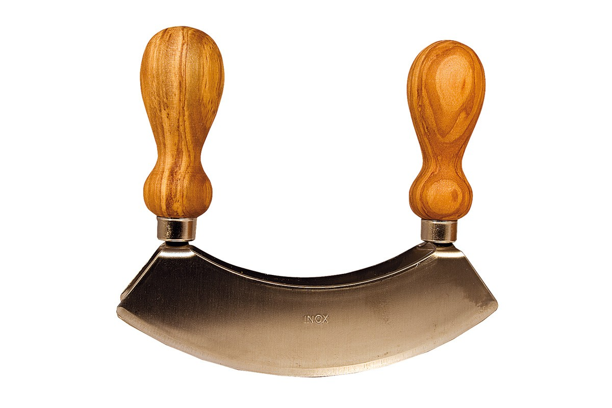 Two-handeled chopping knife