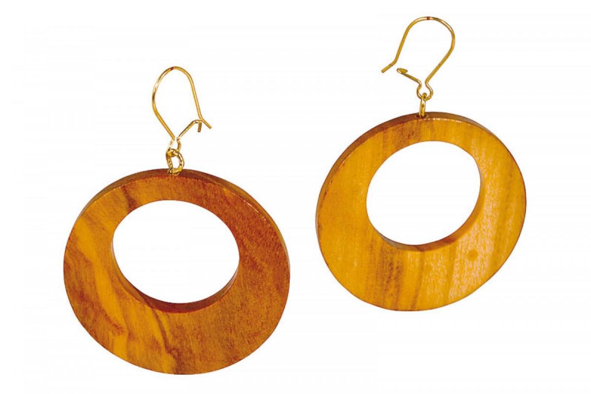 Arte Legno Spello Earring Made Of Olive Wood
